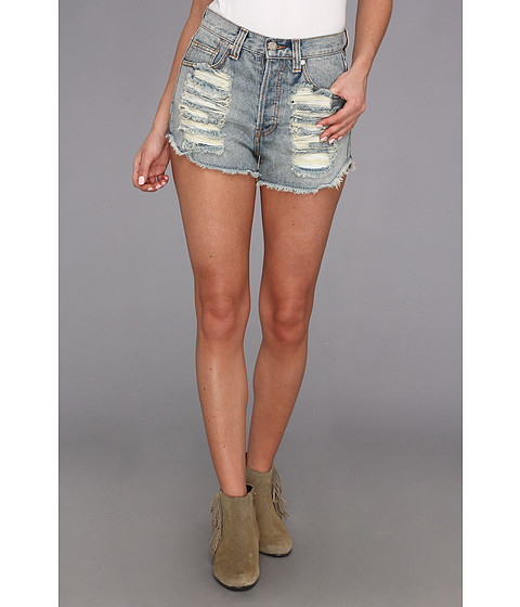 MINKPINK Slasher Flick Short 1MK8396I Denim - Zappos.com Free Shipping BOTH Ways