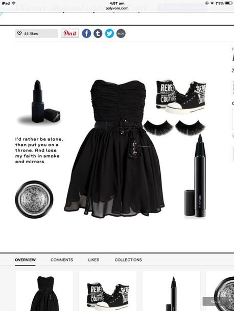 shoes make-up dress