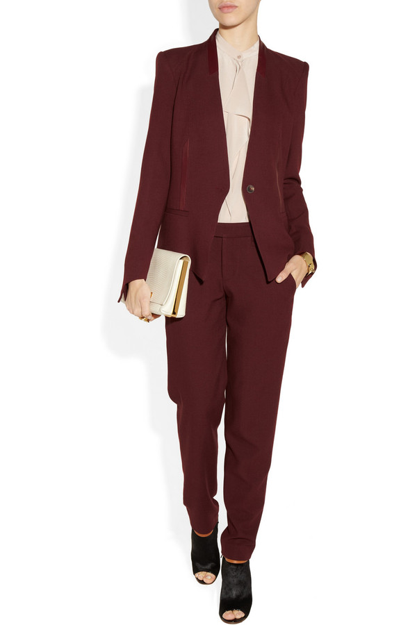pants helmut lang wool pants helmut lang pixel suiting wool trousers suit designer fashions style streetstyle office outfits couture helmut lang pants celebrity style celebrity style steal