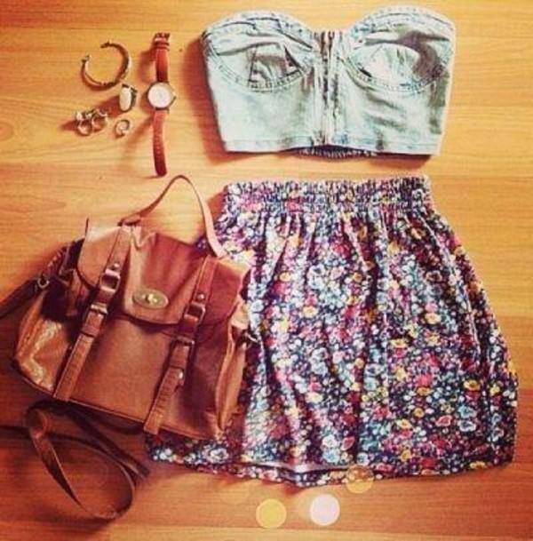 shirt skirt bag