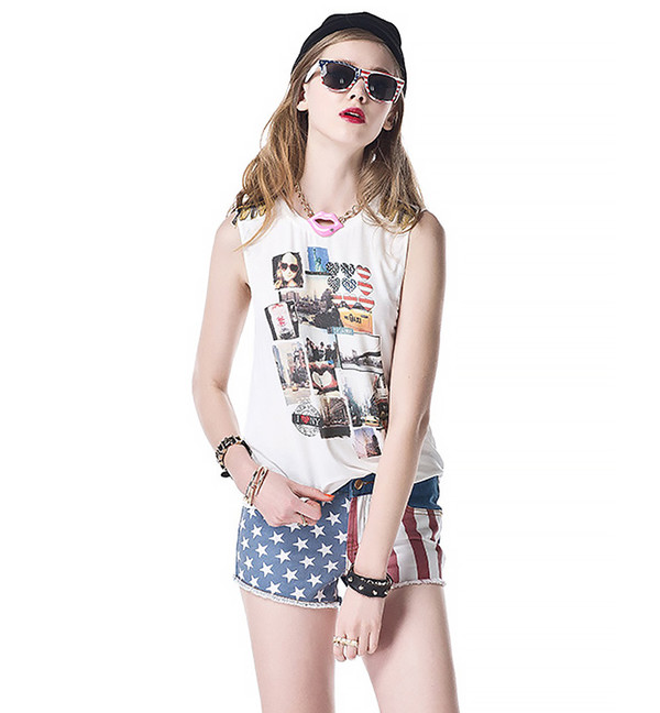 top shorts vest swag summer outfits streetstyle 708562
