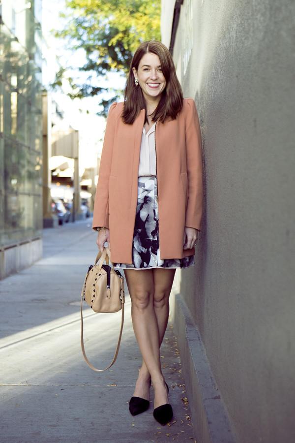 sequins and stripes t-shirt skirt coat jewels bag