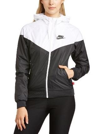 jacket white black nike jacket