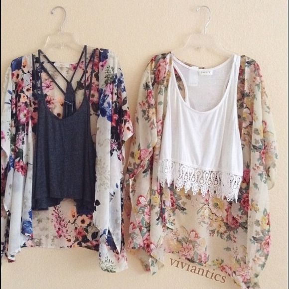 20% off  Tops - Floral kimono from Vivian's closet on Poshmark