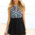 Black Party Dress - Black Mini Dress with Pastel | UsTrendy