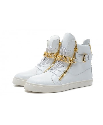 Giuseppe Zanotti 2013 White gold chain Sneakers