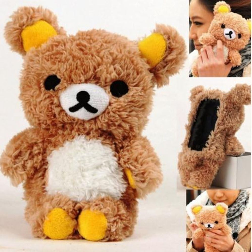 Cute 3D Funny Teddy Bear Cool Plush Toy Doll Cover Case for Apple Samsung Phones | eBay