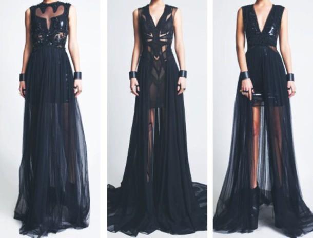 dress black long dresses