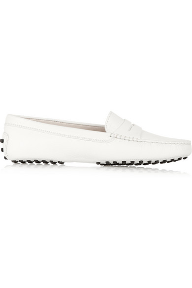Tod's|Gommino leather loafers|NET-A-PORTER.COM