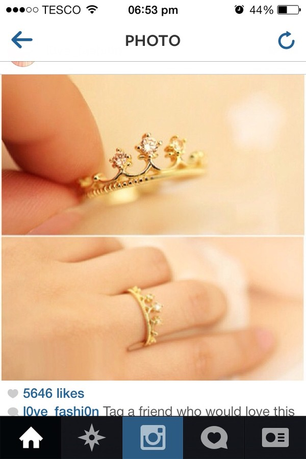 jewels princess ring crown