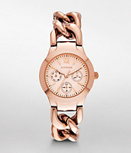 MULTI-FUNCTION CHAIN LINK BRACELET WATCH - ROSE | Express