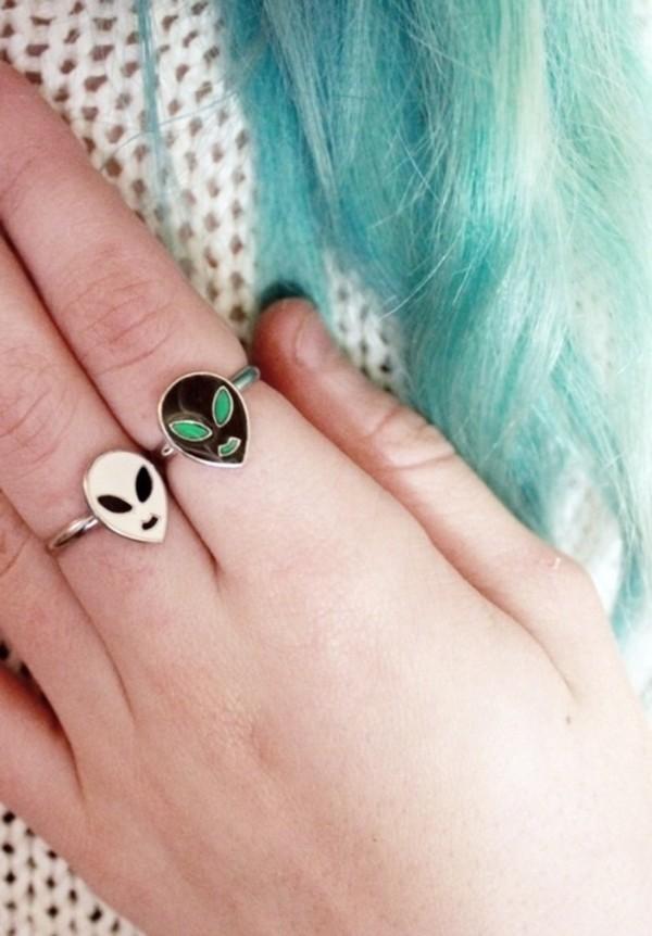 jewels cute lovely alien ring ring jewelry