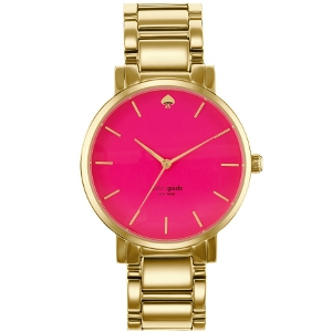 Kate Spade New York Gold and Pink Gramercy Grand Bracelet Watch - Sale