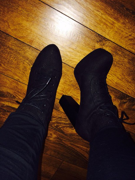 shoes boots platform lace up boots platform high heels black boots black heels