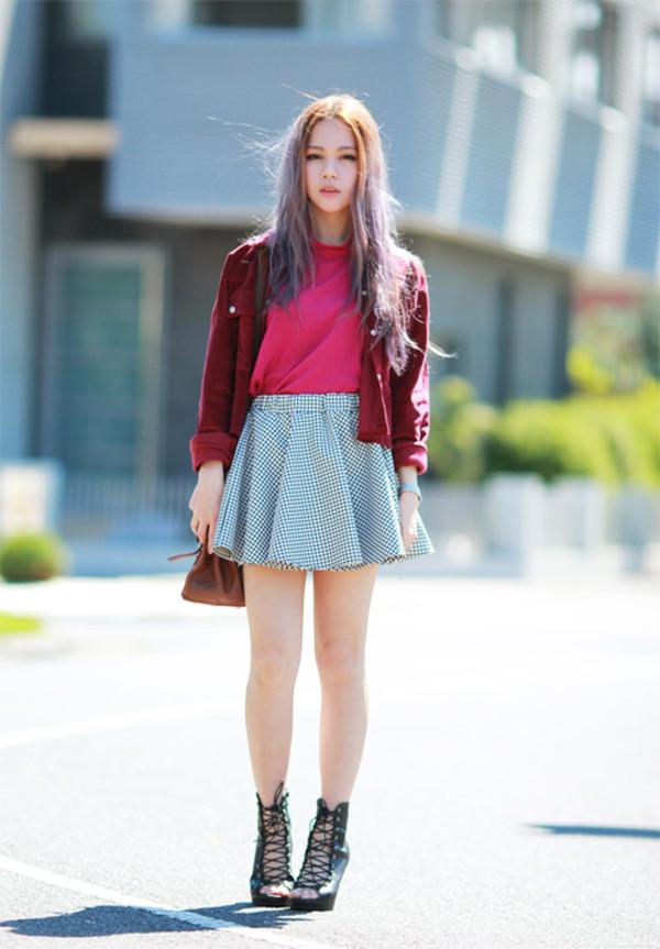chloe ting t-shirt bag skirt shirt