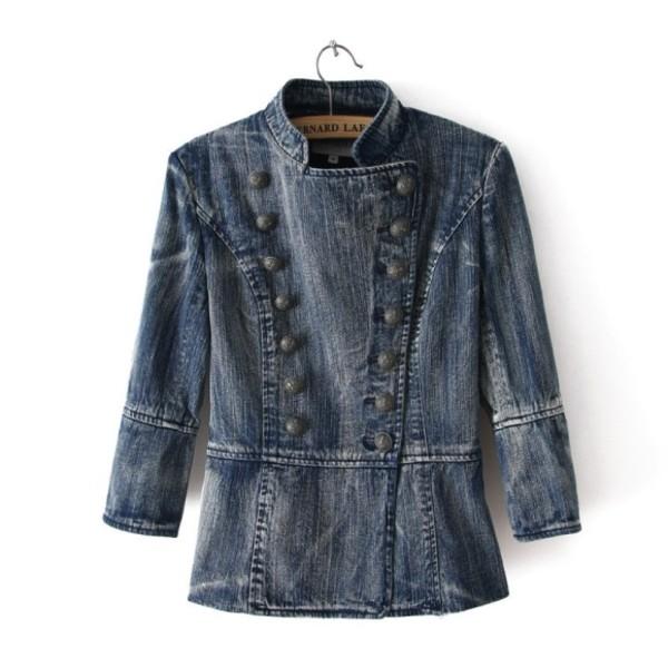 jacket denim jeans women style coat