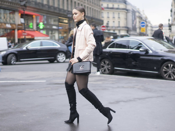Boots Up to the Knee with Looks of Fashion Photos