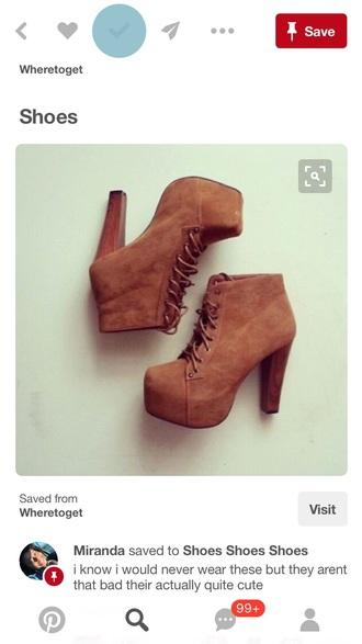 shoes brown platform heels