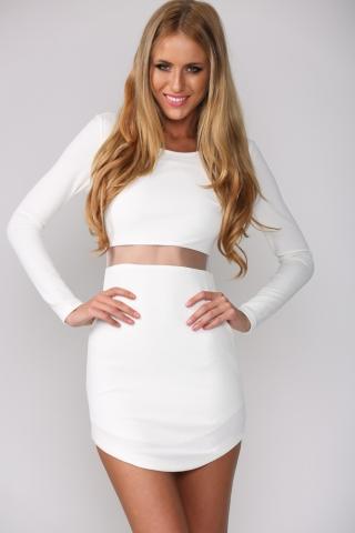HelloMolly    Hush Hush Dress White - New In