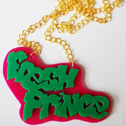 Fresh Prince of Bel Air necklace by VonTrashJewellery on Etsy