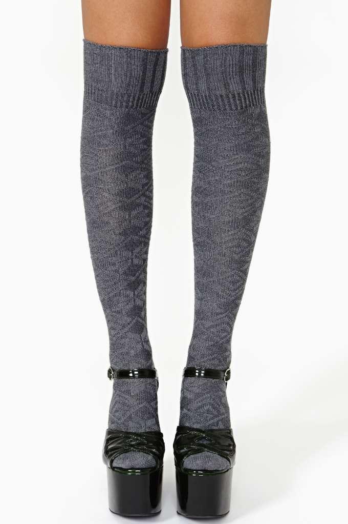 Miss Popular Knee High Socks in  Accessories Socks   Legwear at Nasty Gal