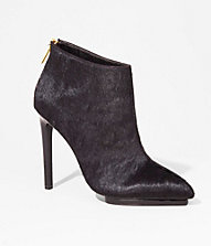HAIRCALF POINTED TOE RUNWAY BOOTIE | Express