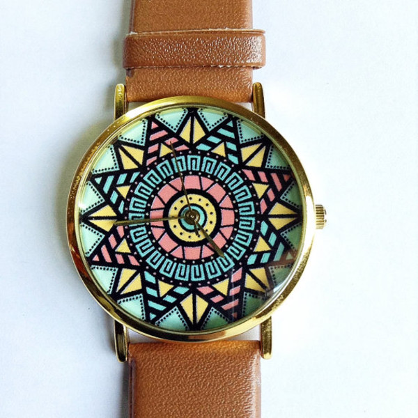 jewels aztec cute blue pink girly gold freeforme watch