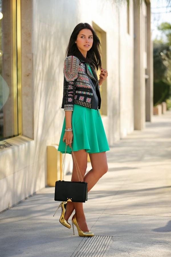 viva luxury dress bag belt shoes jacket jewels embellished leather jacket boho jacket