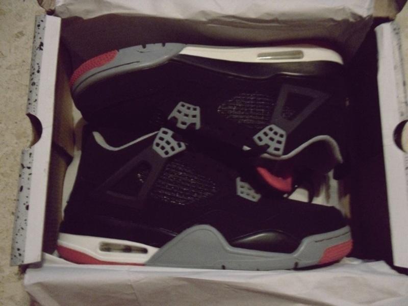 Jordans Retro 4 Bred Sneaker Blogger - kleiderkreisel.de
