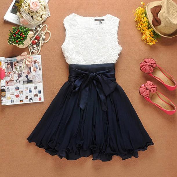 dress cute dress bows party dress