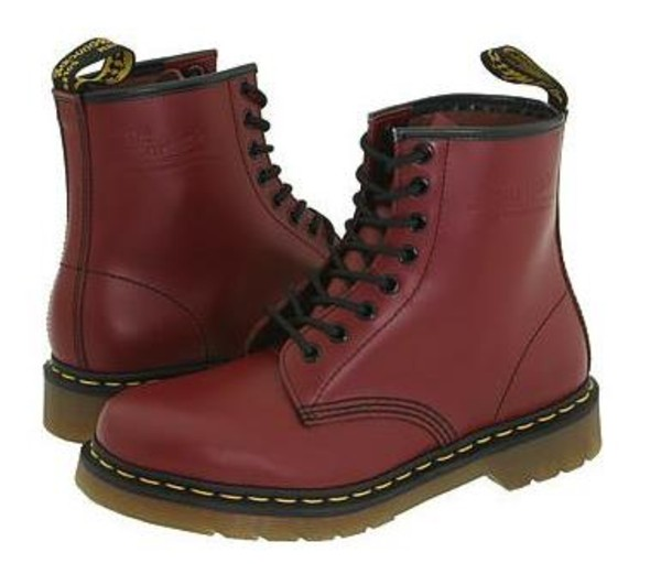 shoes red DrMartens