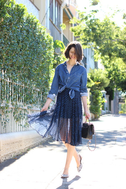 by chill blogger shoes shirt skirt bag