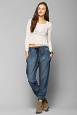 BDG Tapered Chambray Harem Pant - Urban Outfitters
