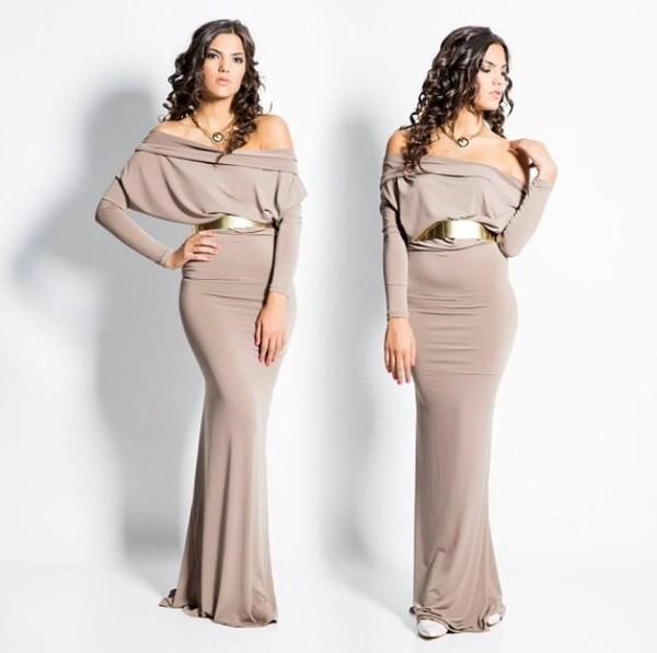 dress beige dress long dress elegant elegant dress elegant evening dress