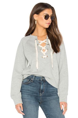 sweatshirt lace sweater