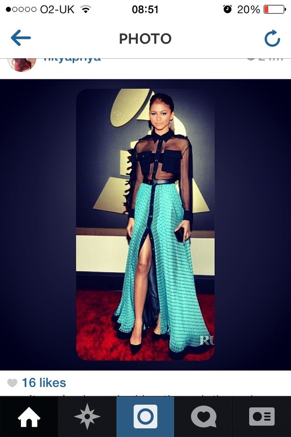 dress maxi dress grammys blue dress black
