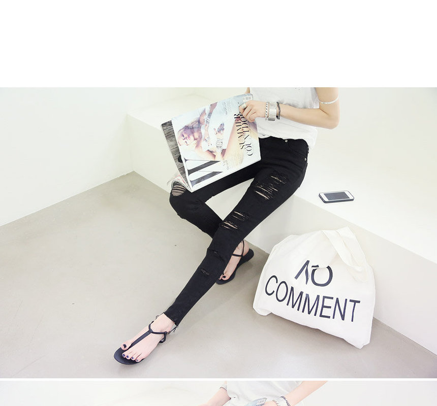 Distressed Skinny Jeans NANING9 | YESSTYLE