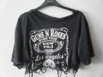 shirt t-shirt guns and roses black
