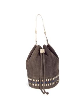 ASOS | ASOS Leather Weave Duffle Bag at ASOS