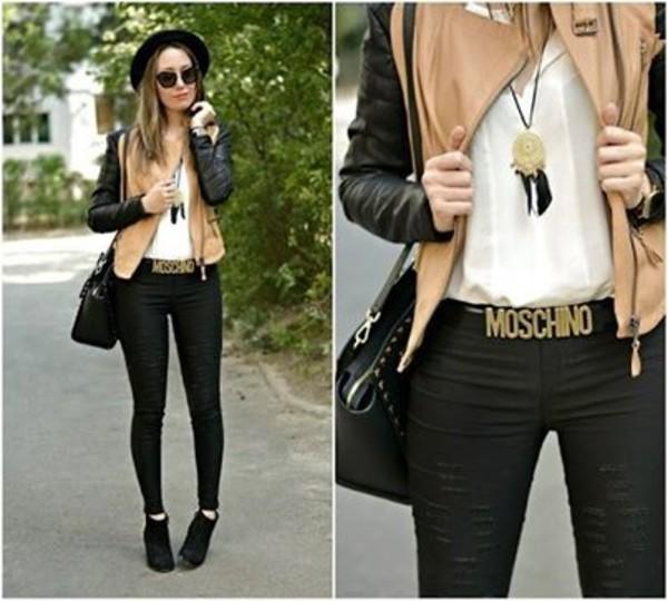 jacket pants belt