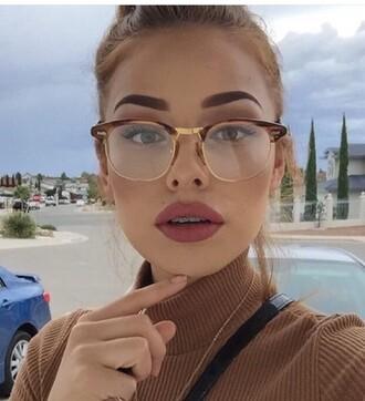 sunglasses glasses nerd glasses round glasses elegant not sunglasses frames eyeglasses frames brown gold vintage retro eyeglasses retro glasses hippie glasses clear glasses round frame glasses big glasses retro sunglasses