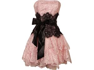 Newegg.com - Strapless Bustier Contrast Lace and Crinoline Ruffle Prom Mini Dress Junior Plus Size