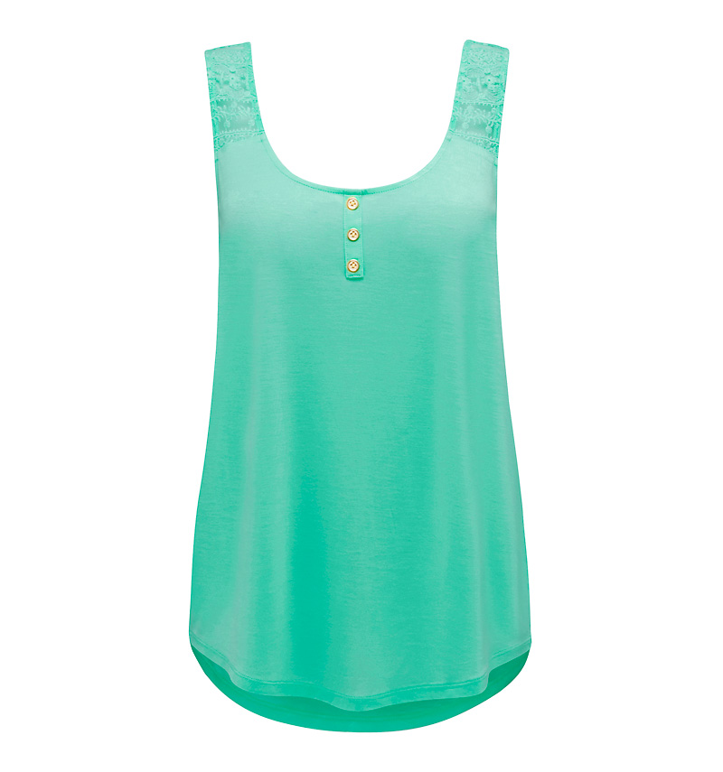 Louise Embroidered Yoke Tank - Forever New