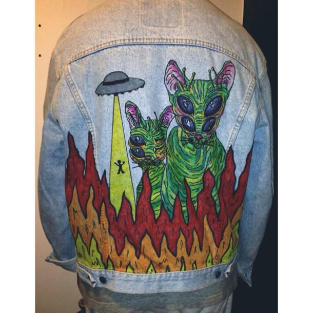 jacket alien space jeans