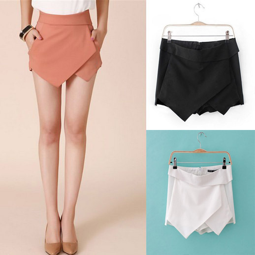 Size S to L Women's Summer Fashion Candy Colors Chiffon Tiered Zipped up Short Mini Shorts Pants Skirts W3233-in Skirts from Apparel & Accessories on Aliexpress.com