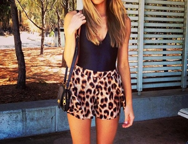 shorts high waisted leopard print leopard print