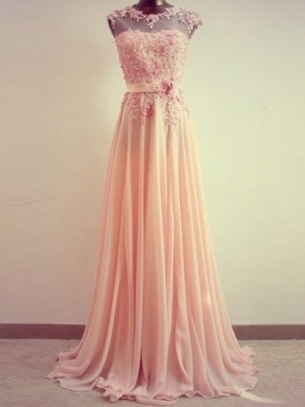 Sweetheart Lace Chiffon Floor-Length Prom Dres [E0055] - $212.99 : 24inshop