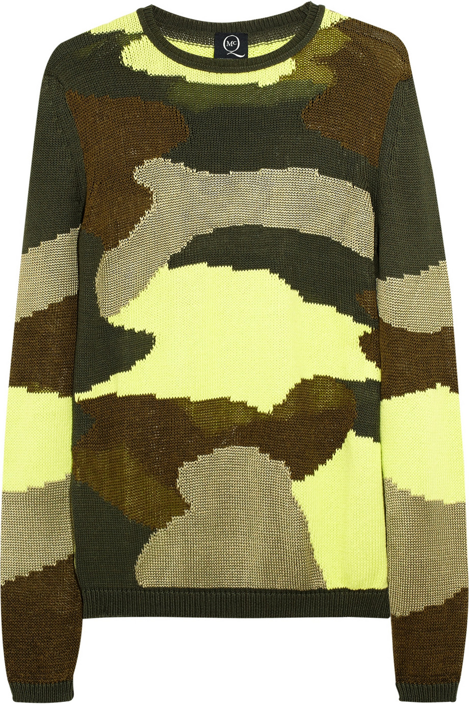 Camouflage cotton-blend sweater | THE OUTNET