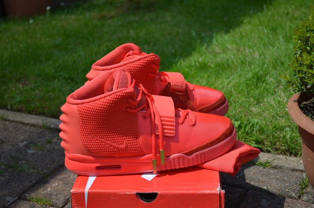 Nike Air Yeezy 2 Red October UK 8 5 Brand New SP | eBay