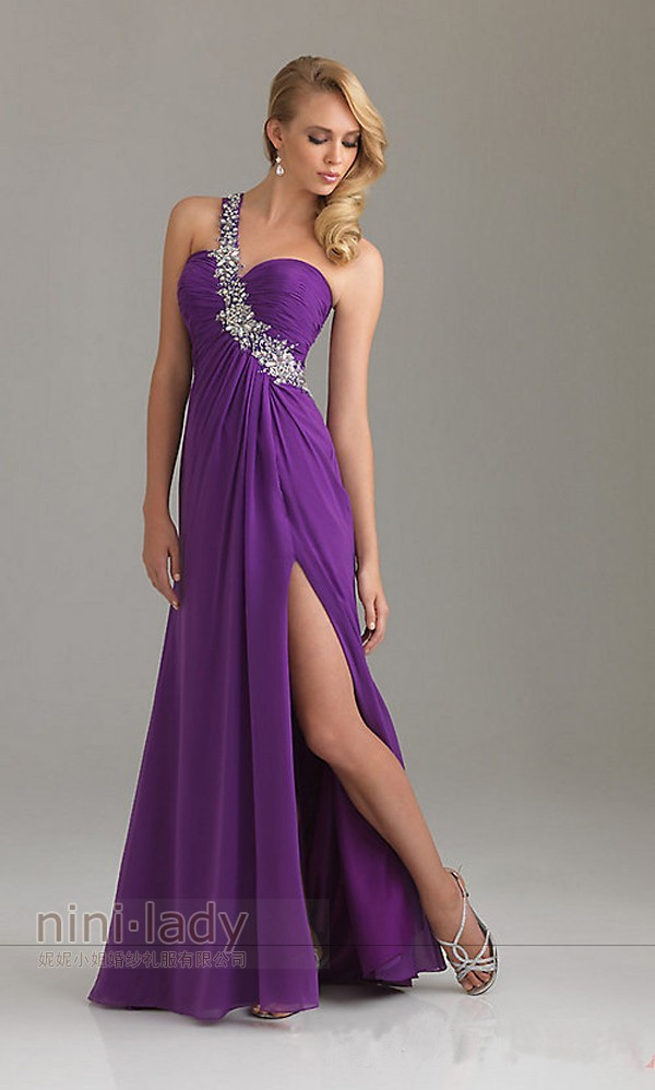 One Shoulder Evening Formal Dress Party Prom Gown Bridesmaid Dress Stock Sz 6 16 | eBay